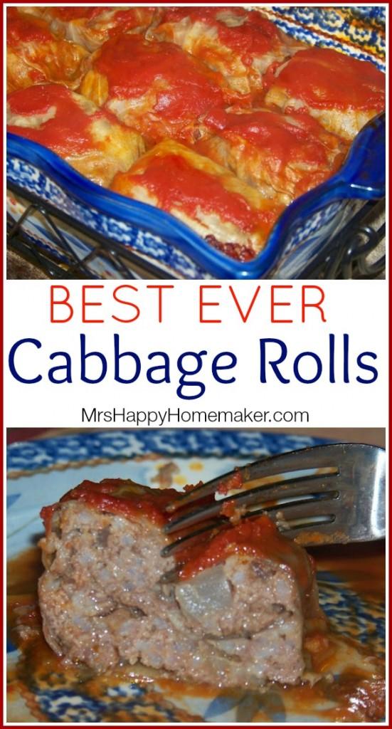 BEST EVER Cabbage Rolls