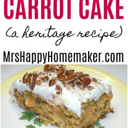 My favorite old fashioned Carrot Cake