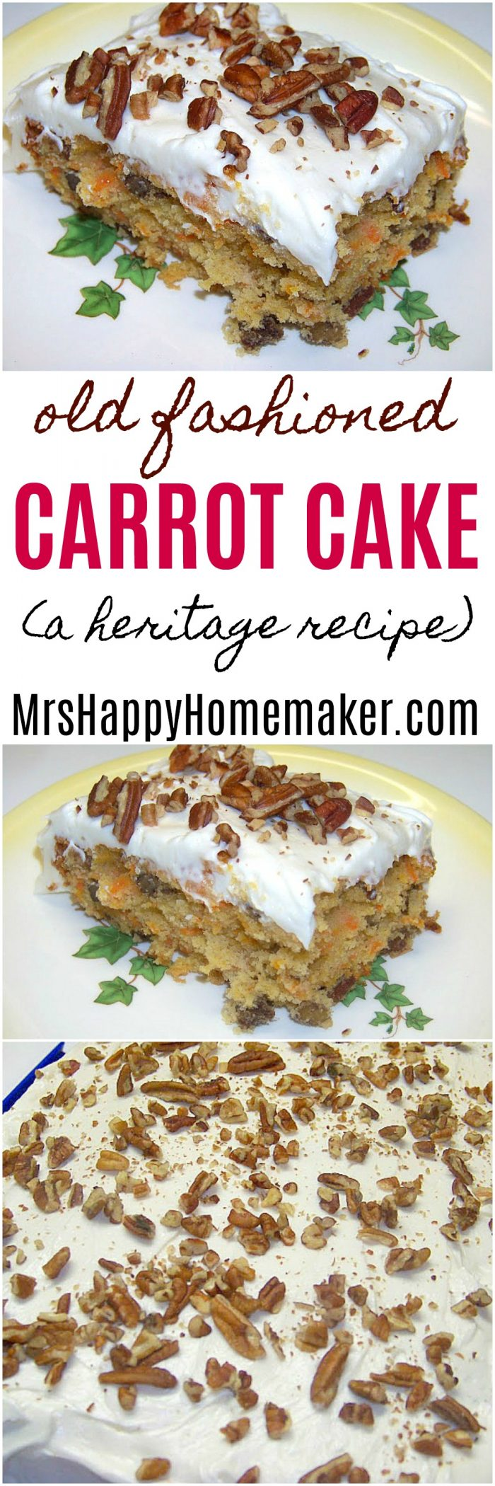 Carrot Cake a heritage recipe