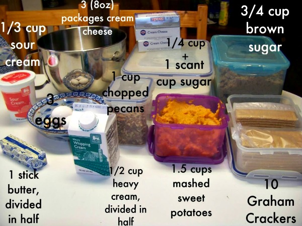 Sweet Potato Cheesecake with Caramel Pecan Glaze