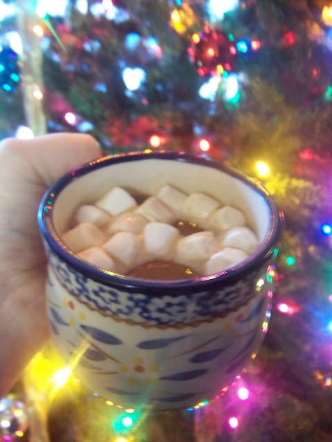 Best Ever Hot Cocoa in a mug with marshmallows