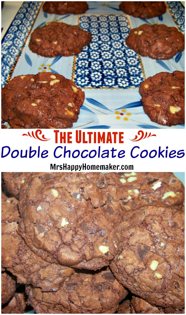 The ULTIMATE Double Chocolate Cookies