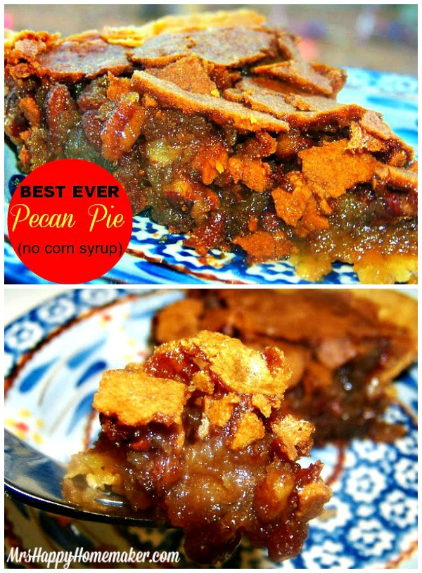 BEST EVER Pecan Pie!!! It's made with butter instead of corn syrup, and that makes all the difference! Plus, it's SO simple too! Foolproof!