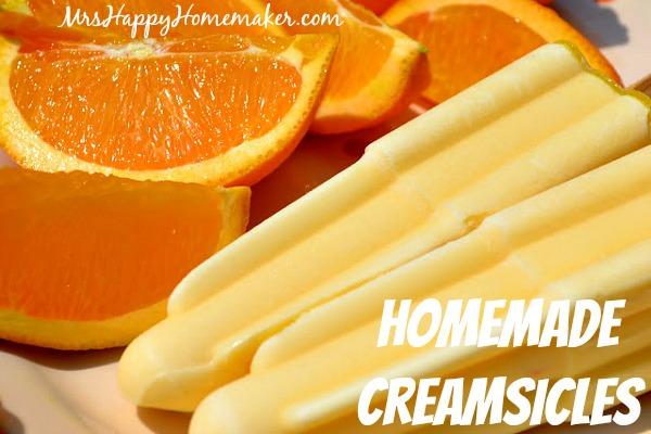 Homemade Creamsicles