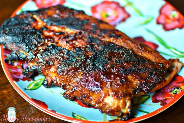 whiskey glazed ribs - rack of ribs