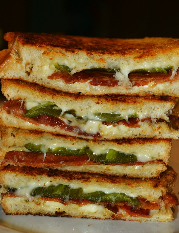 Bacon Jalapeno Popper Grilled Cheese Sandwiches