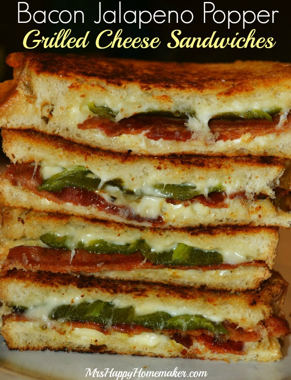 These Bacon & Jalapeno Popper Grilled Cheese Sandwiches are a ...