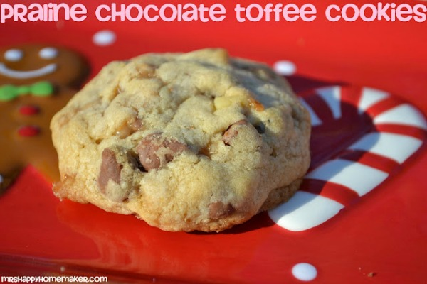 Praline Chocolate Toffee Cookies