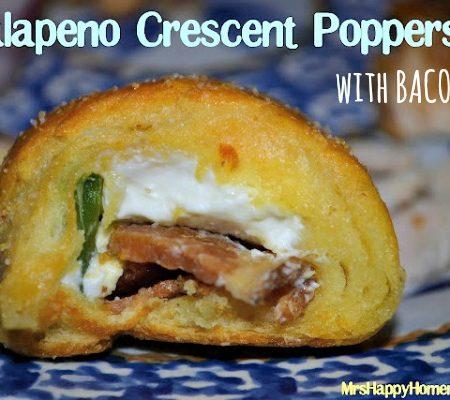 Jalapeno & Bacon Crescent Poppers, SO EASY & SO GOOD!! | MrsHappyHomemaker.com @mrshappyhomemaker