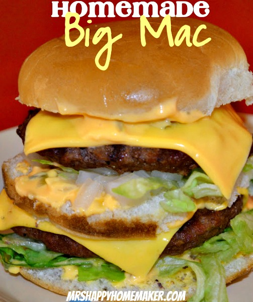 Homemade Big Mac