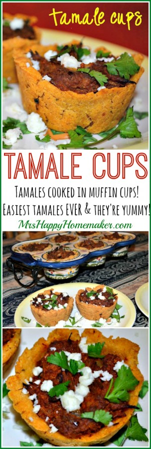 Tamale Cups - tamales cooked in muffin cups. Easiest tamales ever and they're yummy!