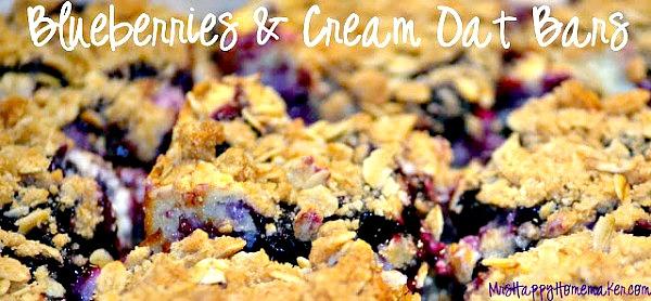 Blueberries & Cream Oat Bars