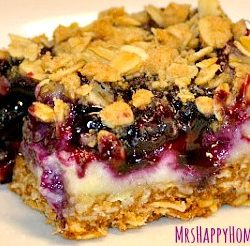 Blueberries & Cream Oat Bars