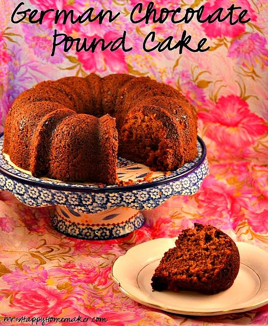 German Chocolate Pound Cake Mrs Happy Homemaker