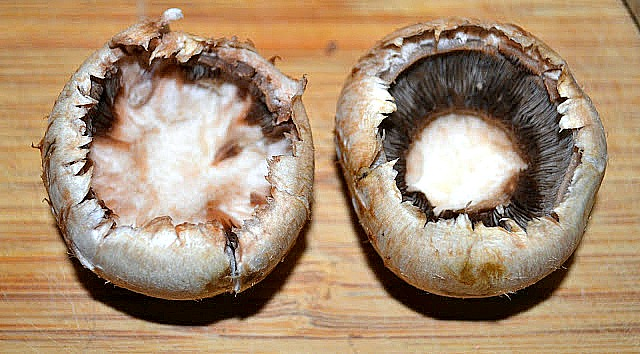 hollowed out mushroom caps for stuffed mushrooms