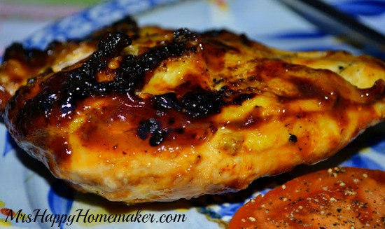 Honey Chipotle Barbeque Sauce (pictured on a chicken breast)