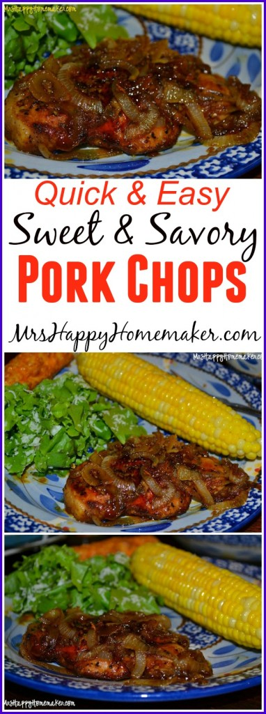 Quick & Easy Sweet & Savory Pork Chops