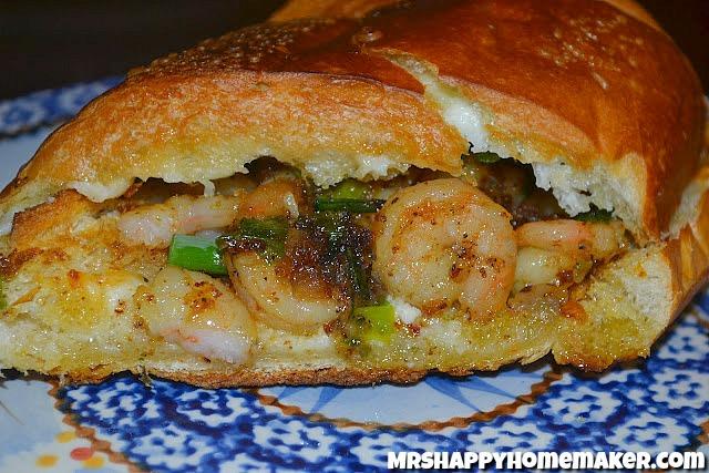 Shrimp Scampi Po Boy Sandwich
