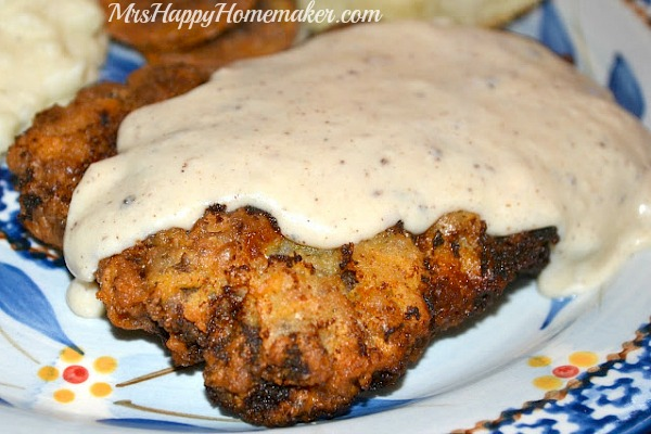 Chicken Fried Steak with White Gravy is a traditional Southern meal that I grew up & it continues to be one of my favorite things in the whole world!