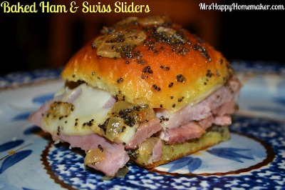 Baked Ham & Swiss Sliders