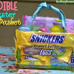 Easter basket made out of candy