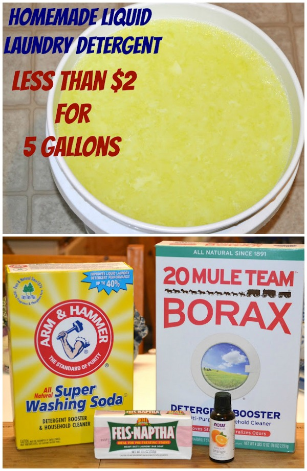 The BEST homemade laundry detergent!