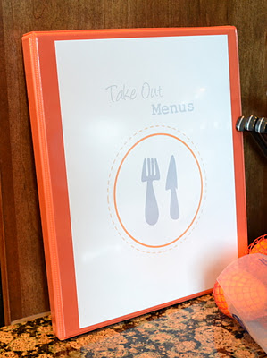 Takeout Menu Binder Mrs Happy Homemaker