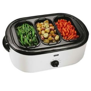 Oster 18 Quart Roaster Oven W Buffet Server 27 Shipped