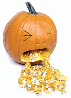 jackolantern vomiting pumpkin seeds