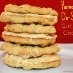 Homemade Do Si Dos Girl Scout Cookies (Peanut Butter Sandwich Cookies)