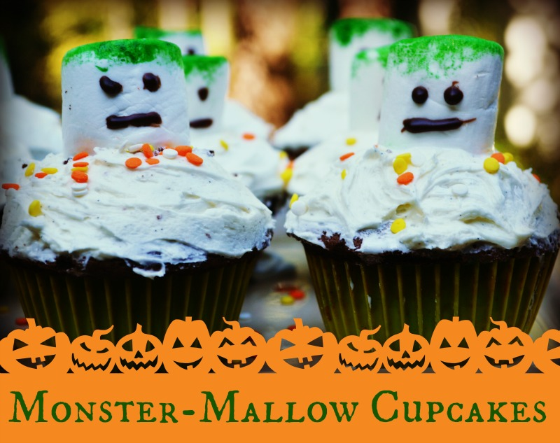 Easy Monster-Mallow Cupcakes