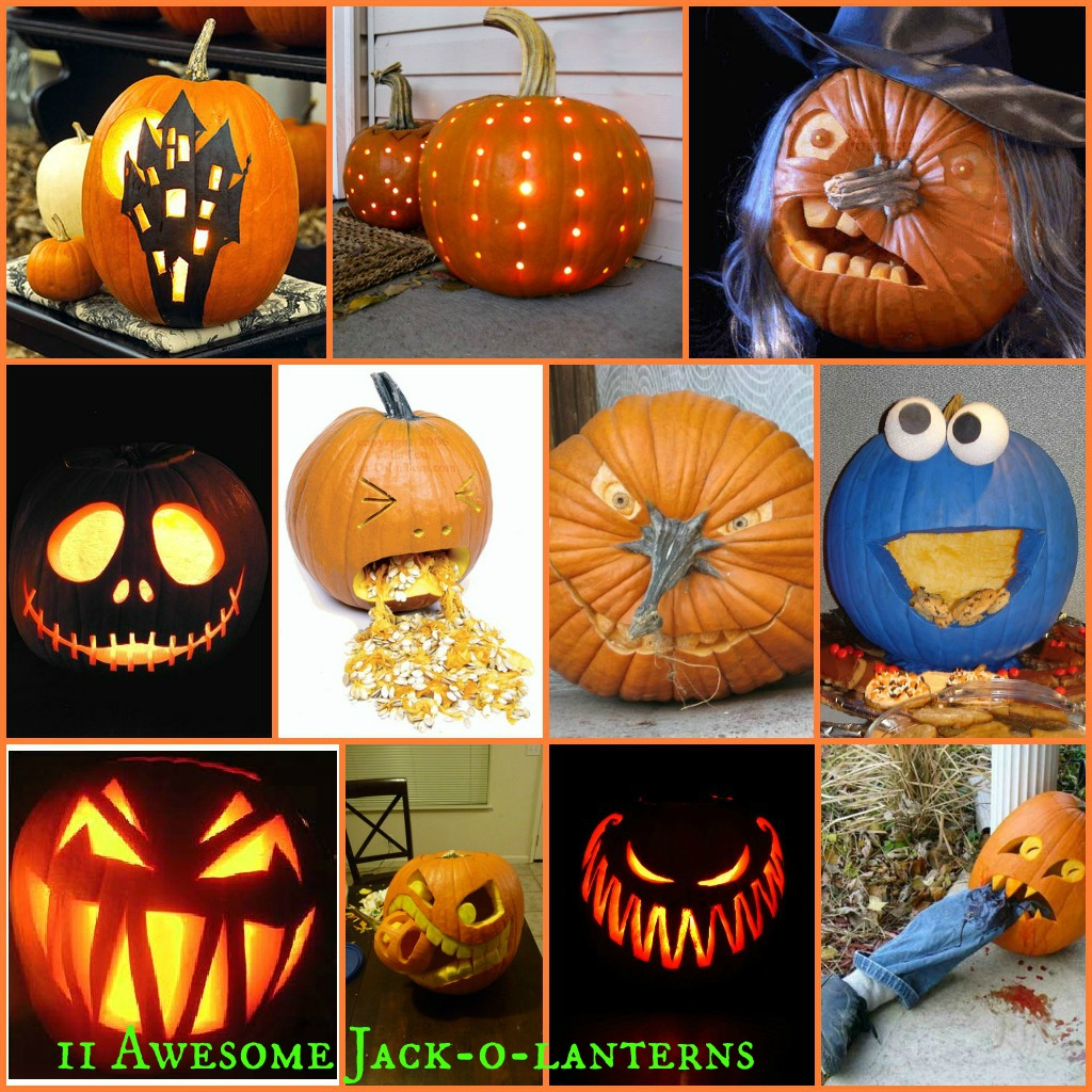 11 awesome jackolantern design ideas in a collage
