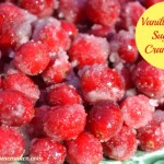 Vanilla Bean Sugared Cranberries