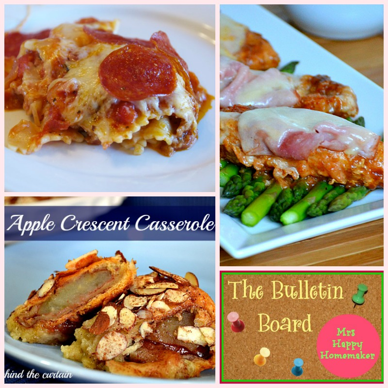Pizza Casserole, Apple Crescent Casserole, &  Inside Out Cordon Bleu