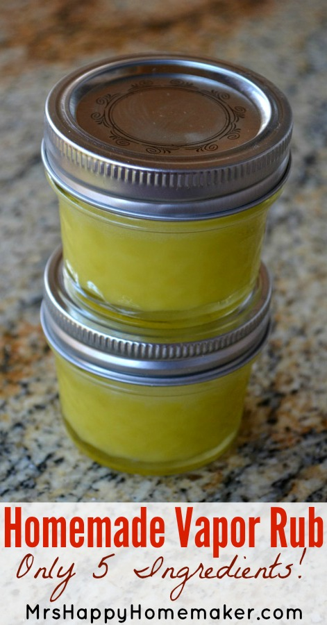 Homemade Vapor Rub - only 5 ingredients and it's AWESOME!
