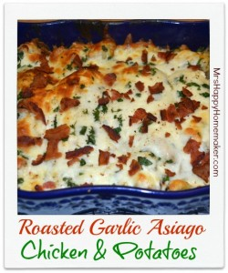 Roasted Garlic Asiago Chicken & Potatoes - this is ridiculously good!!