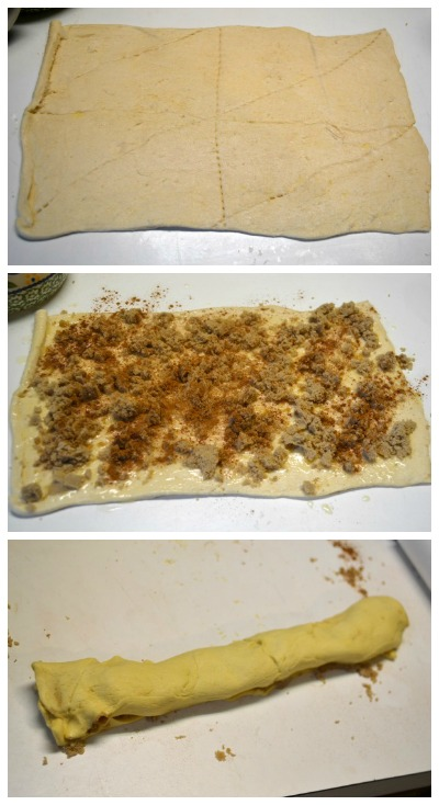 Mini Cinnamon Rolls using crescent rolls