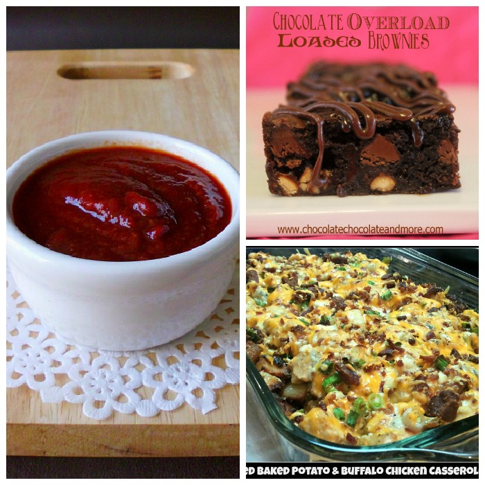 Homemade Ketchup, Overload Brownies, & Buffalo Chicken & Baked Potato Casserole