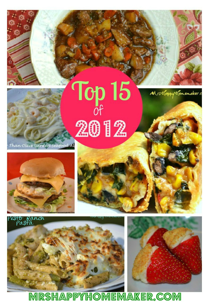 Top 15 of 2012 on MrsHappyHomemaker.com