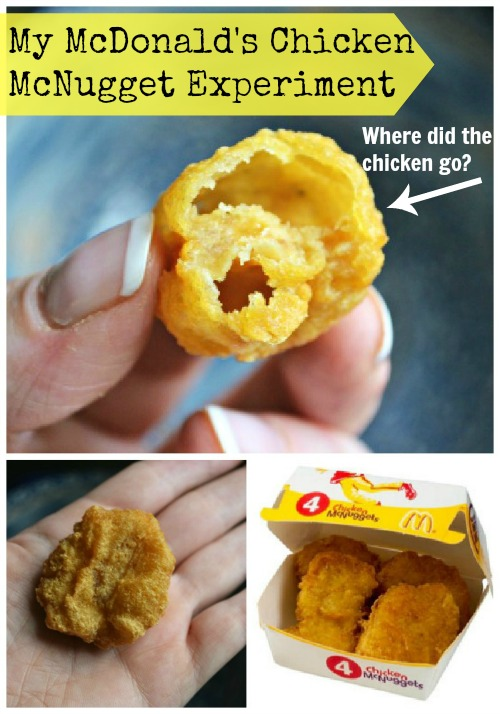 My Mcdonalds Chicken Mcnuggets Experiment Where Did The Chicken Go
