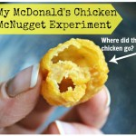 My Mcdonalds Chicken McNugget Experiment - where did the chicken go?