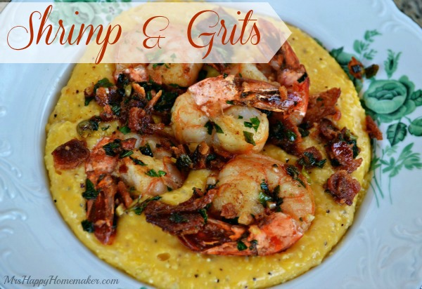 Shrimp & Grits - MrsHappyHomemaker.com