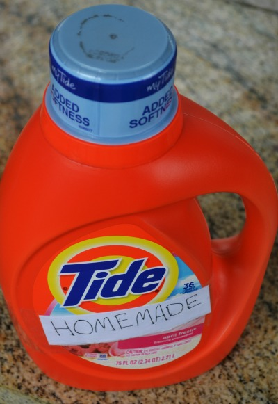 Homemade Liquid Laundry Detergent with