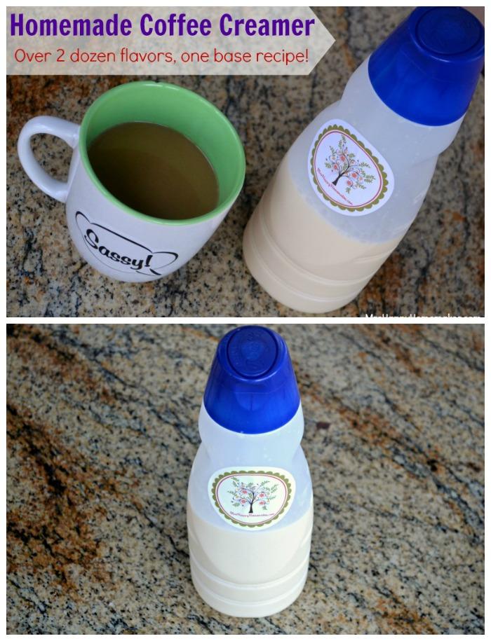 Homemade Coffee Creamer - Over 2 Dozen