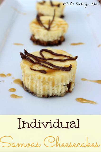 Individual Samoa Cheesecakes