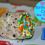 Oreo Birthday Cake Ice Cream Pops, only 3 ingredients!