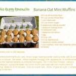 Healthy Banana Oat Mini Muffins