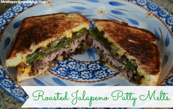 Roasted Jalapeno Patty Melts