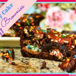 Birthday Cake Fudgy Brownies