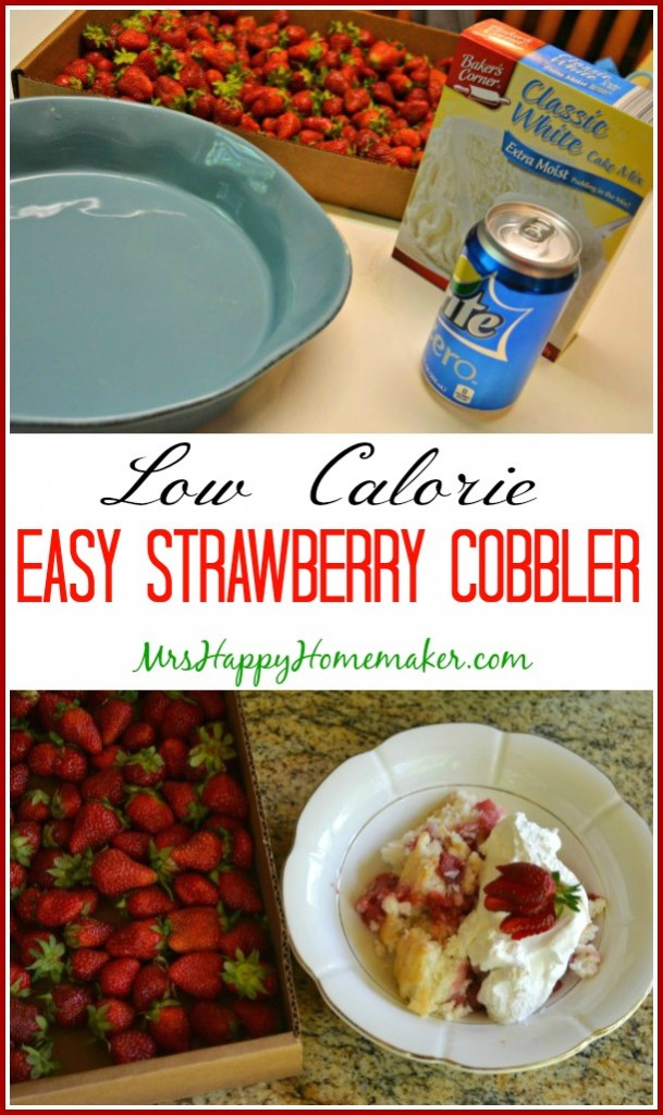 Low Calorie Easy Strawberry Cobbler